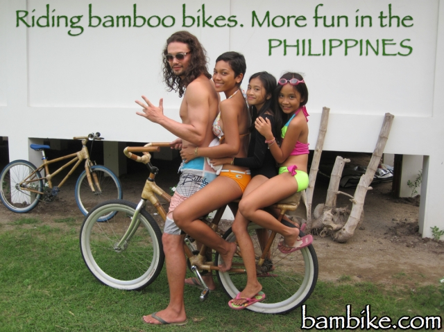4 People Riding 1 Bambike!